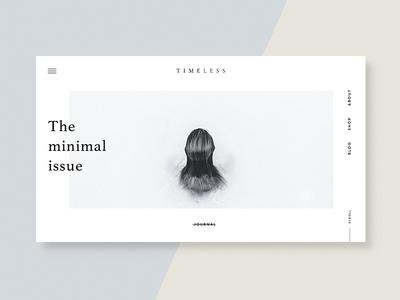 Timeless Magazine Journal site design branding design digital blog magazine website uxui