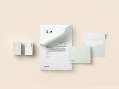 The Mint Wellness Circle logo type icon mint branding logo design