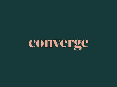 Converge Logo lettering type design logo branding