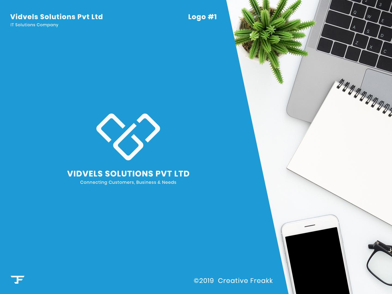 Vidvels | Logo Design clean logo icon design brand logo logo design icon vector logo
