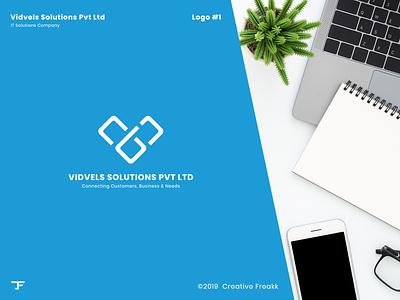 Vidvels   Logo Design clean logo icon design brand logo logo design icon vector logo