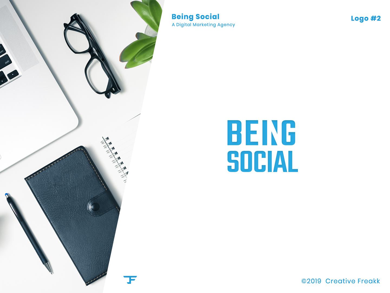 Being Social | Logo Design identity vector clean logo logo design logo icon design icon brand logo