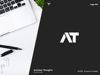 Amatuer Thoughts   Logo Design minimal personal brand personal logo personal branding design vector identity logo design logo icon icon design clean logo brand logo