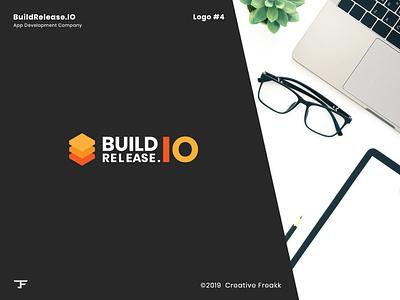 Build Release   Logo Design color app development company brand branding identity design minimal icon design vector logo design logo clean logo icon brand logo