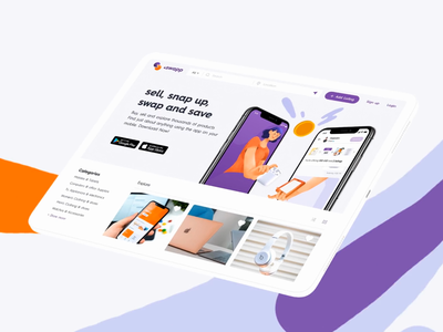 Swapping Products Platform product design uiux ui interaction aftereffects motion swap save trading barter exchange swapping buying selling ecommerce