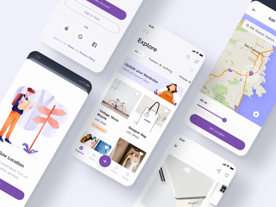 Swapping Products IOS App ecommerce design app ux animation ui