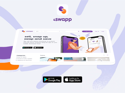 Swapping Products Platform interaction ecommerce branding logo design appicon app ux ui