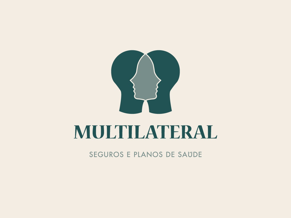 Multilateral v1 face logo face badge typography branding logo concept vector minimal illustrator illustration geometic flat design