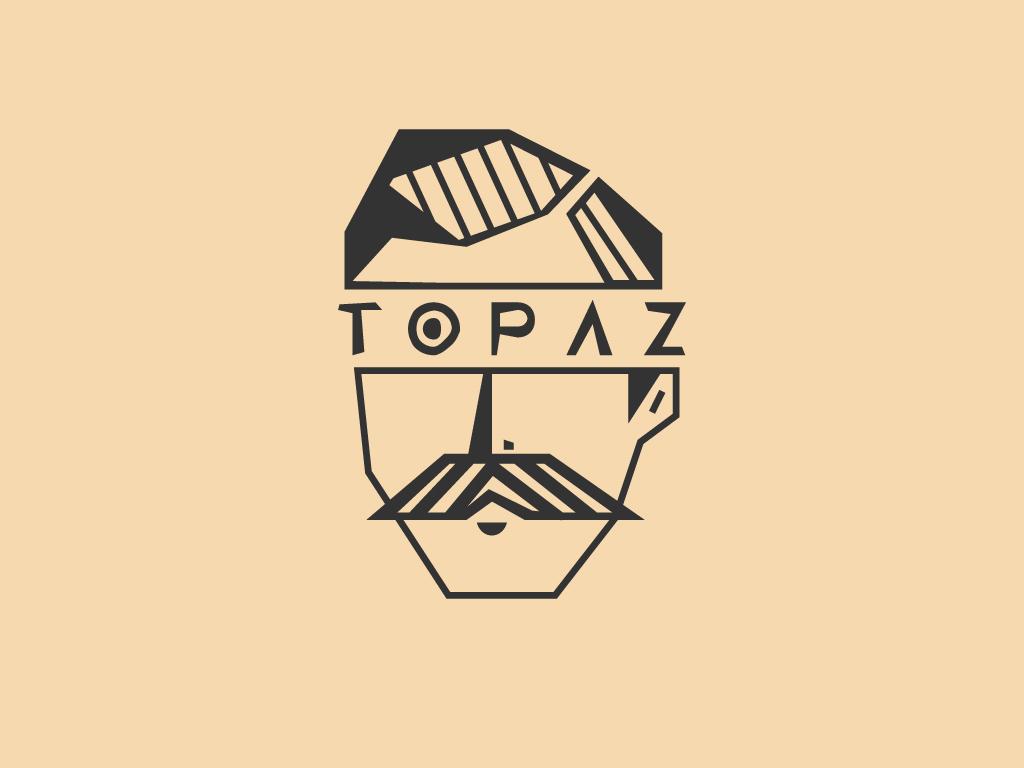 Topaz Barber Shop barber logo barbershop barber typography badge icon branding logo concept vector minimal illustrator geometic flat design