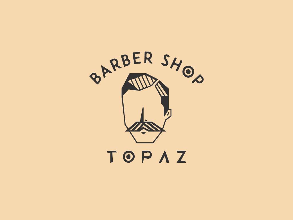 Topaz Barber Shop v2 beard barber barbershop typography badge icon branding logo concept vector minimal illustrator geometic flat design