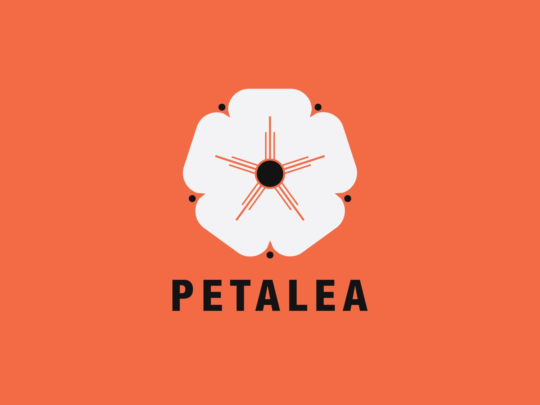 Petalea petals nature flower typography badge icon branding logo concept vector minimal illustrator geometic flat design