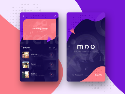 Moo Music Mobile App music art musician music player app music