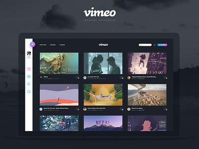 Vimeo (Redesign) redesign video youtube vimeo