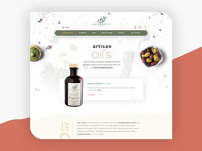 Olive - Homepage clean typography branding design logo olive oil ui  ux ui web  design web oliveoil grunge olive