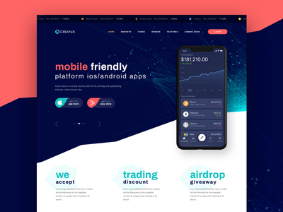 Buy and Sell Cryptocurrency ui branding typography web  design clean flat web ui  ux design red mobile illustraion crypto wallet bitcoin crypto