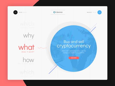 Coin Site Concept web minimalist clean sell buy cryptocurrency bitcoins bitcoin bitcoin exchange