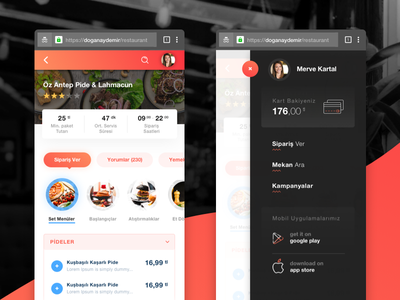 Restaurants Web App clean restaurants mobile mobile design mobile app design mobile ui
