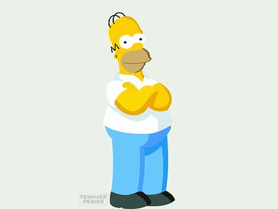Homer Jay Simpson graphicdesign lowpolygon polygon vector graphic design design illustration inkscape lowpoly homer homer simpson simpsons the simpsons