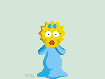 Margaret Evelyn Simpson yellow blue polygonal polygons low-poly low poly lowpolyart lowpolygon vector polygon lowpoly illustration inkscape simpsons maggie simpson maggie the simpsons the simpsos