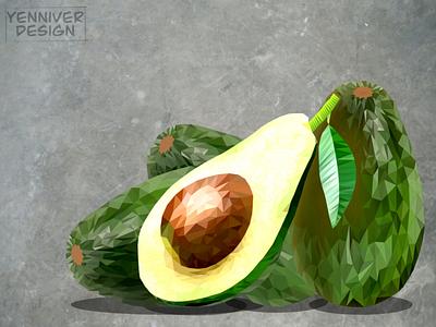 Avocado health cado avo food polyart avocado logo illustration design polygon lowpolyart low poly lowpolygon lowpoly inkscape