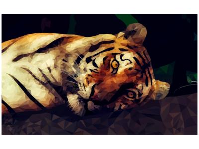 lowpoly/polygon tiger