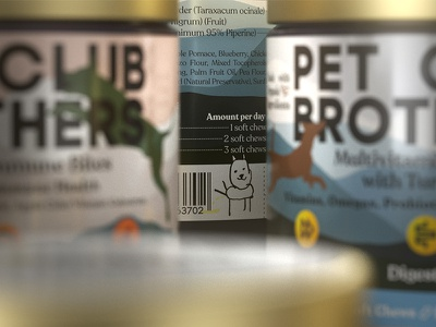 Pet Club Brothers peeing dog barcode packaging 3d