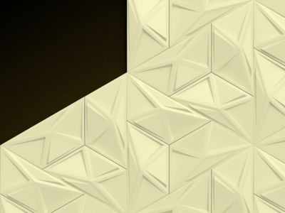 Presentation opener pattern ivory pattern triangles