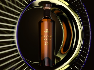 Key visual concept ararat sun beauty shot kv packshot brandy v-ray 3d