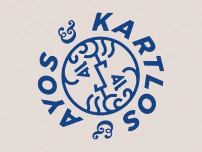 Ayos & Kartlos ambigram georgia armenia kartlos ayos logo