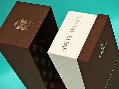 Gift box close up ararat v-ray 3d