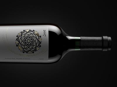 Z'art wine packshot packaging 3d armenia zart beverage commercial dark capsule cork stopper wine bottle packshot product design