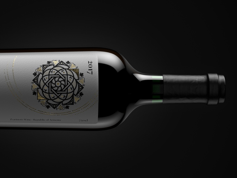 Z'art wine packshot