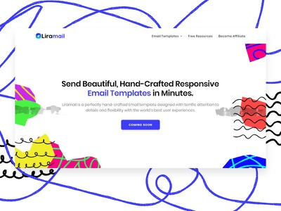 Liramail - Hand Crafted Email Templates ux website web branding typography design ui illustration