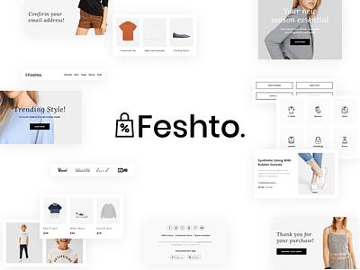 Feshto - Fashion Email Bundle design illustration typography ux fashion ui email template email design email