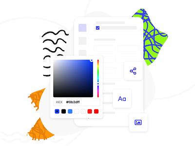 Liramail Color Picker for Email Editor colorpicker color web website editor email template email design email ux illustration design