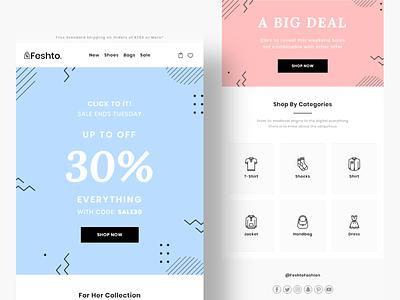 Feshto Offer Email branding email ui ux illustration vector typography email template email design design