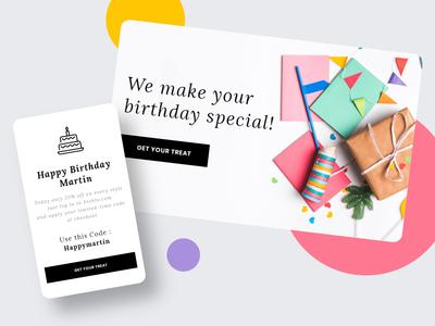 Feshto - Email for User Birthday