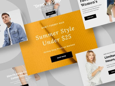 Feshto - Email Template Modules typography fashion editor branding email template email website ux ui email design design