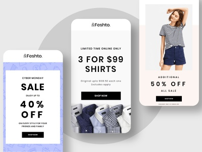 Responsive Email Template for eCommerce Store design web fashion ecommerce email email template ux ui website email design illustration