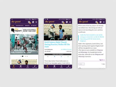Journalism News Media App | The Quint