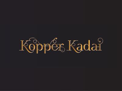 Indian Restaurant Logo | Kopper Kadai
