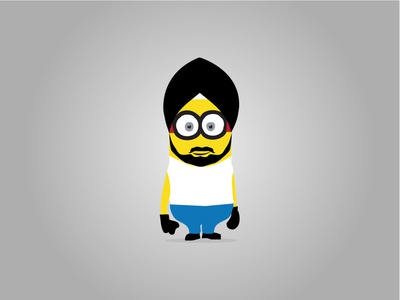 Minion Illustrated Sikh Character | Buntee