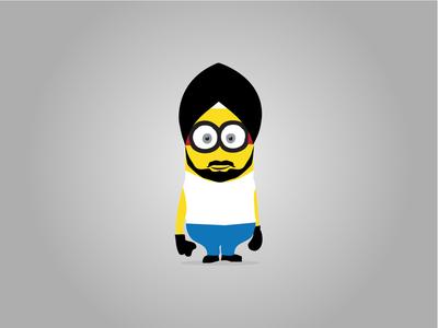 Minion Illustrated Sikh Character | Buntee