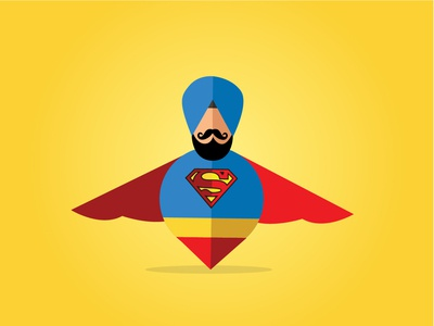 Super Singh | Buntee | Sikh Illustrations