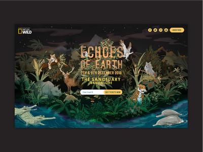 Echoes Of Earth Desktop Website | Music Festival