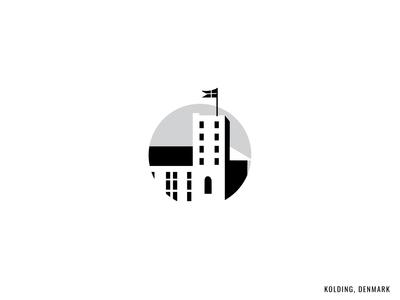 Kolding Denmark City Sticker