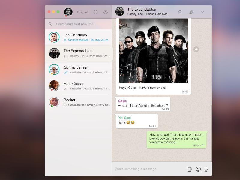 Whatsapp Desktop App Concepts Design by Tayfun Hakyemez on Dribbble
