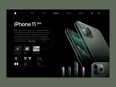 Iphone 11 pro product UI/UX