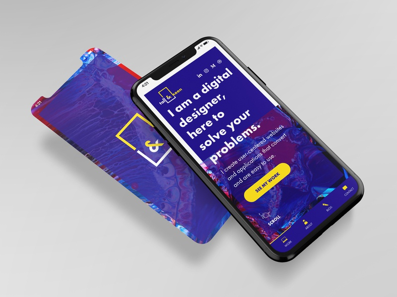 Mobile view of the upcoming website