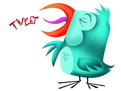 Tweeter Bird bird animal character design tweet illustration vector digital